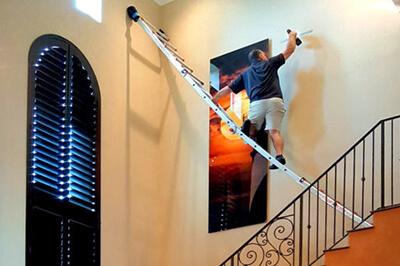 free wall art installation